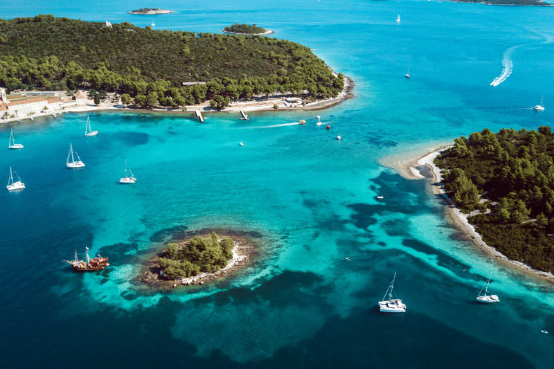 Egsotic locations, secluded coves and bays on  Adventure SailWeek route