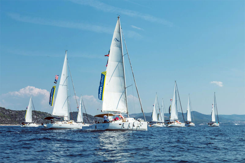 SailWeek Skipper Academy fleet near Hvar