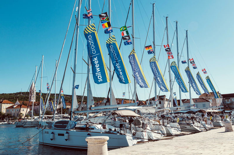 SailWeek Premium yachts docked in Supetar