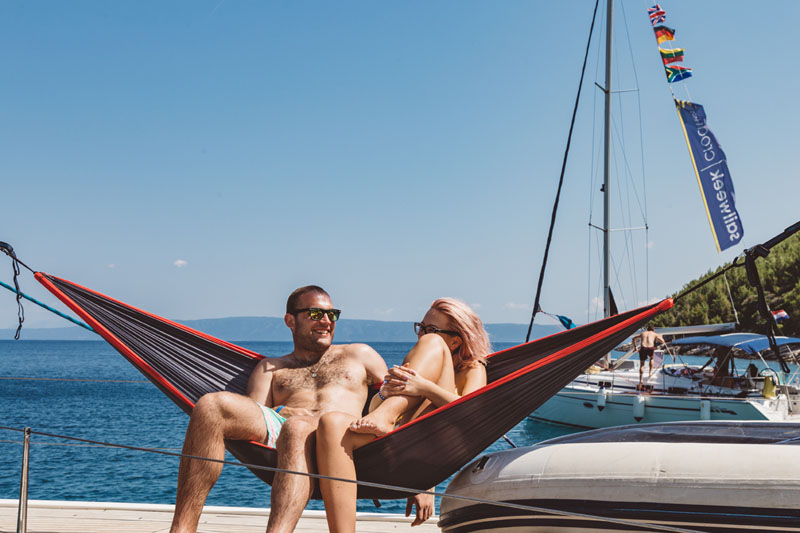 Romantic sailing in Croatia with your loved one
