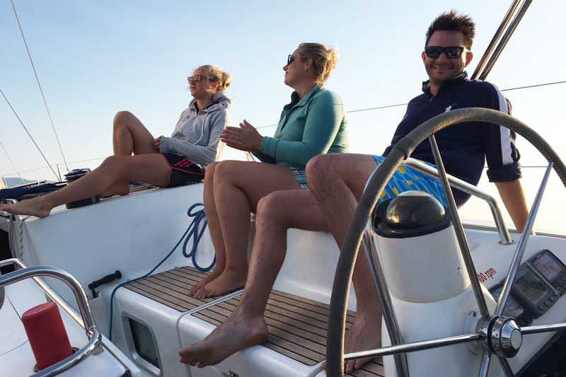During your SailWeek Skipper academy you'll share a yacht with fellow skipper candidates