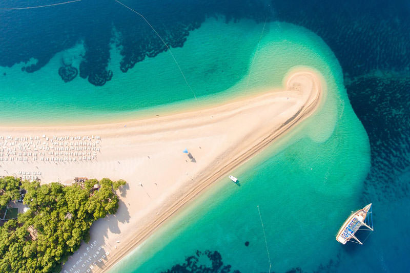 Famous beach on Bol, one of the highlights of SailWeek Croatia