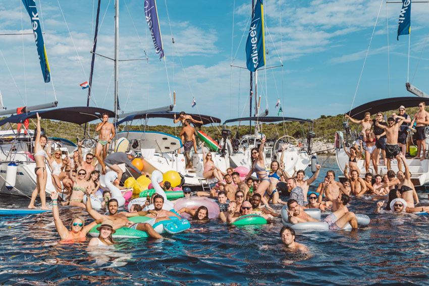 Party SailWeek and Ultra SailWeek raft parties are the best way to meet new friends