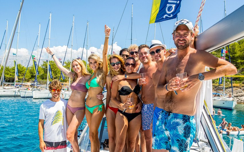 Share Yacht life with friends and fun crowd