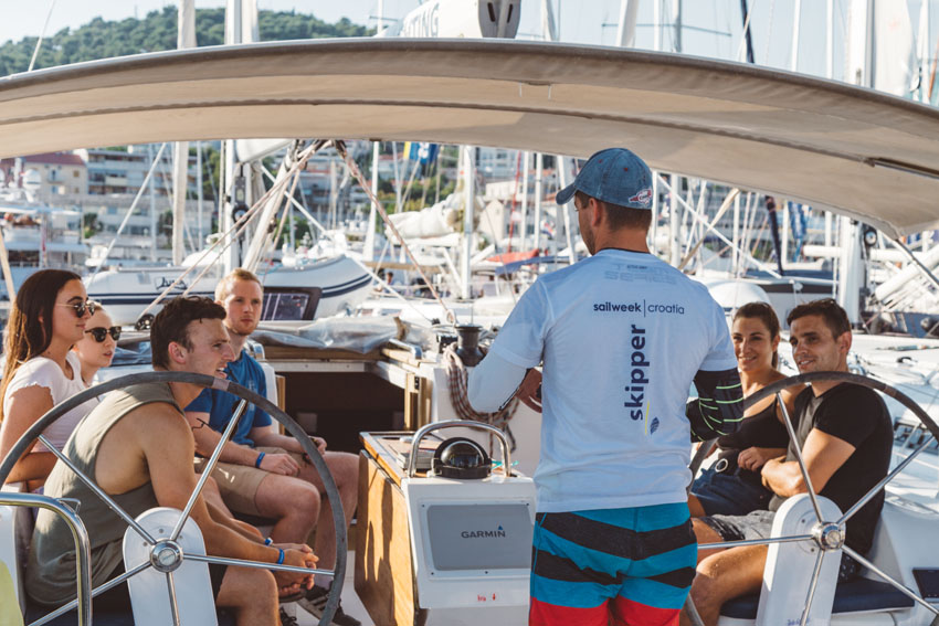 SailWeek skippers are all professional locals in love with their beautiful country