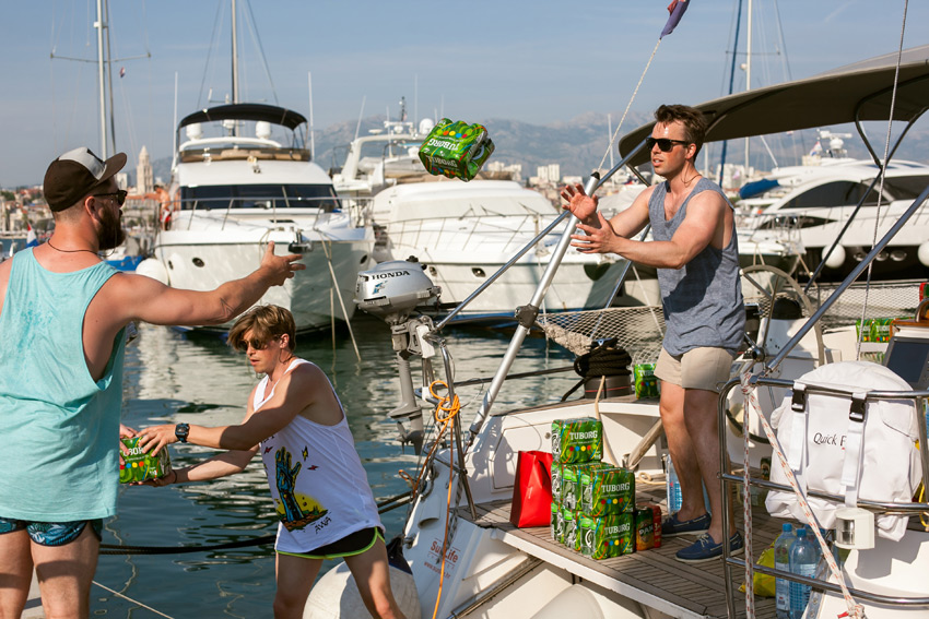 On Sailweek you can bring your own food and alcohol on board.